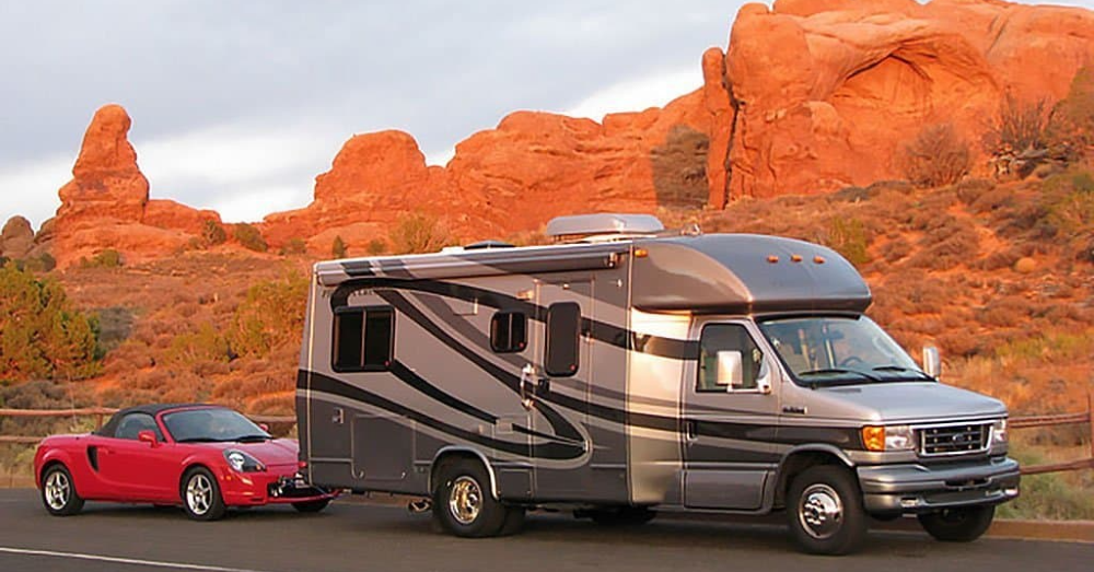 What to Know About Towing a Car Behind an RV